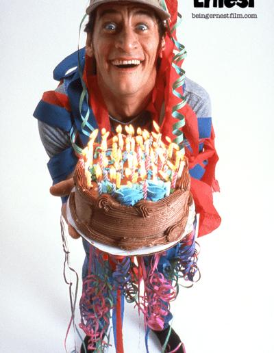 Ernest holding a birthday cake
